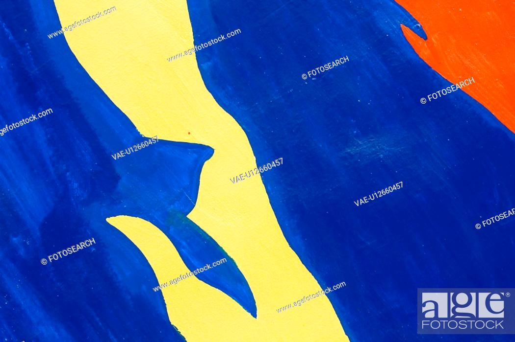 Stock Photo: Blue, Colored Background, Close-Up, Bright, Abstract.