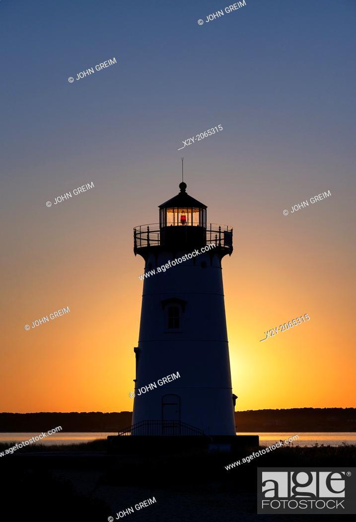Stock Photo: Edgartown Light, Martha's Vineyard, Massachusetts, USA.
