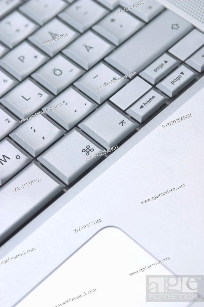 Stock Photo: keyboard, close-up, background, technology, hardware, button.