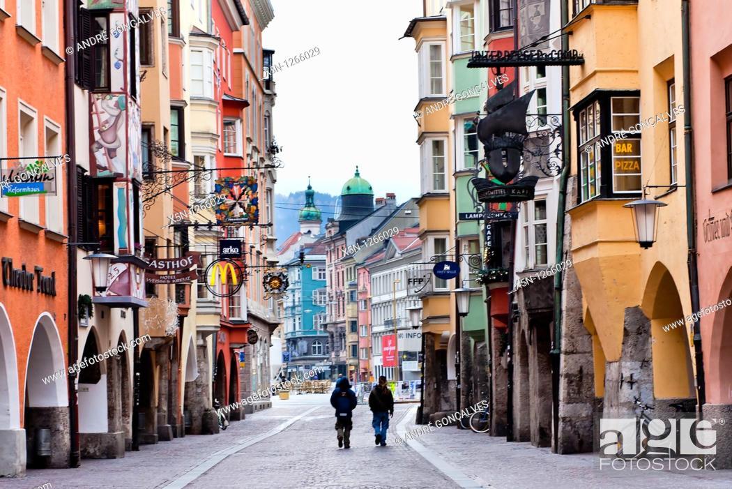 Stock Photo: Streets of Innsbruck, Austria.