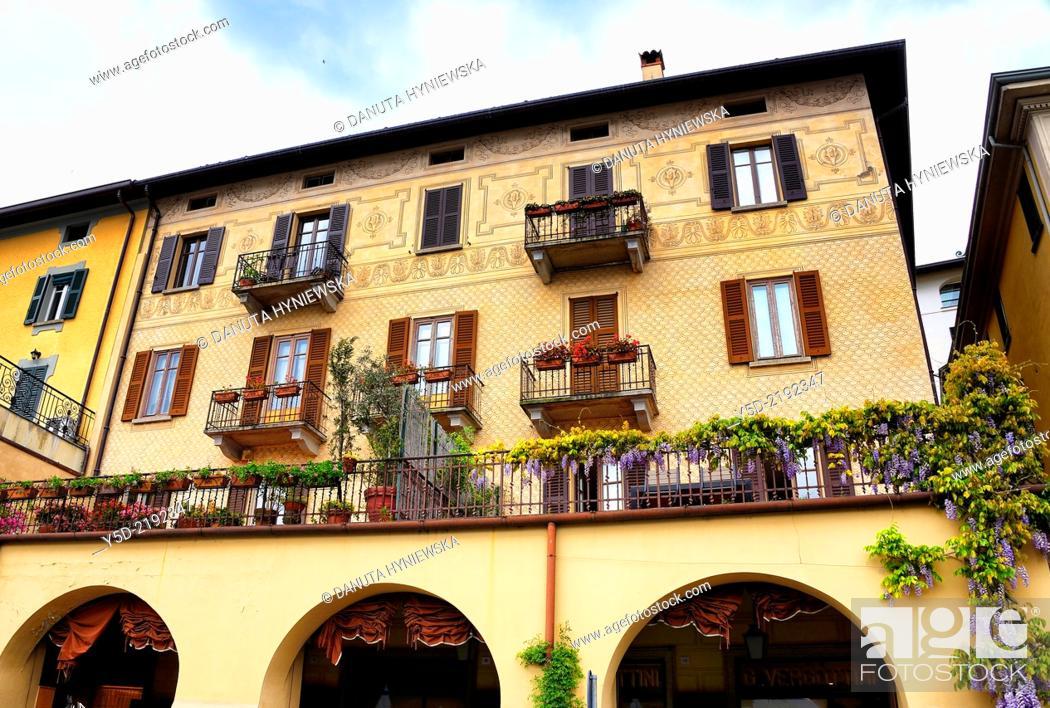 Stock Photo: Bellagio, Province Como, Lombardy, Lake Como, Italy.