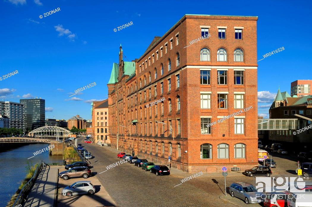 Stock Photo: Hamburg, Germany, Historic Warehouse District.