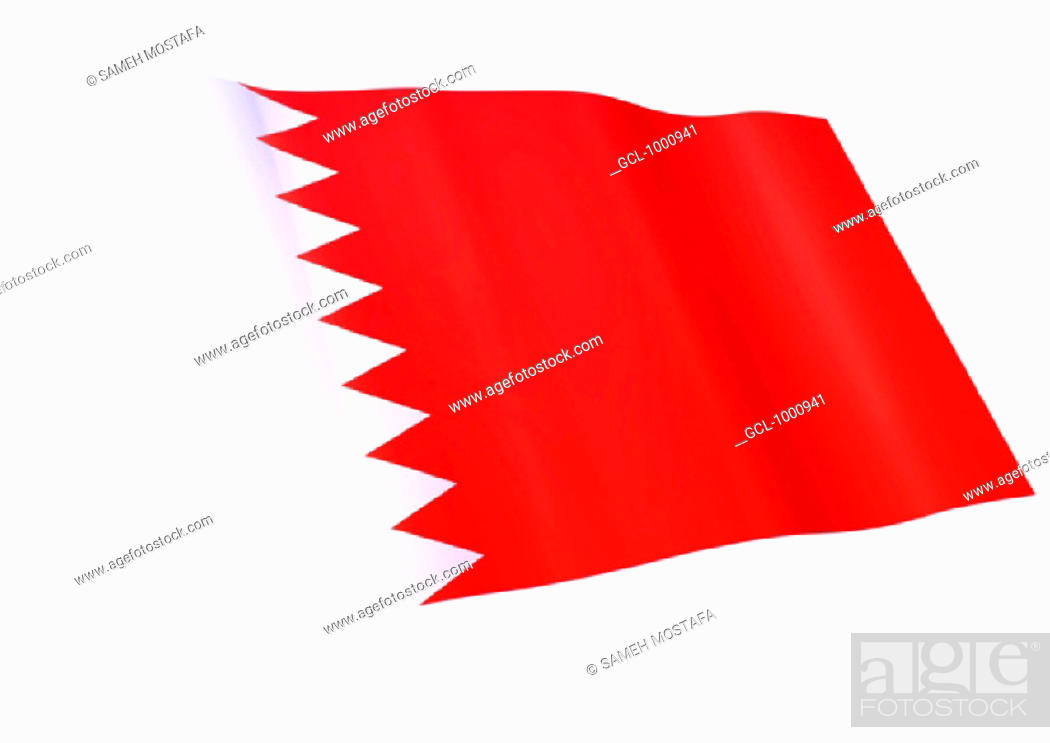 Stock Photo: flag of Bahrain.