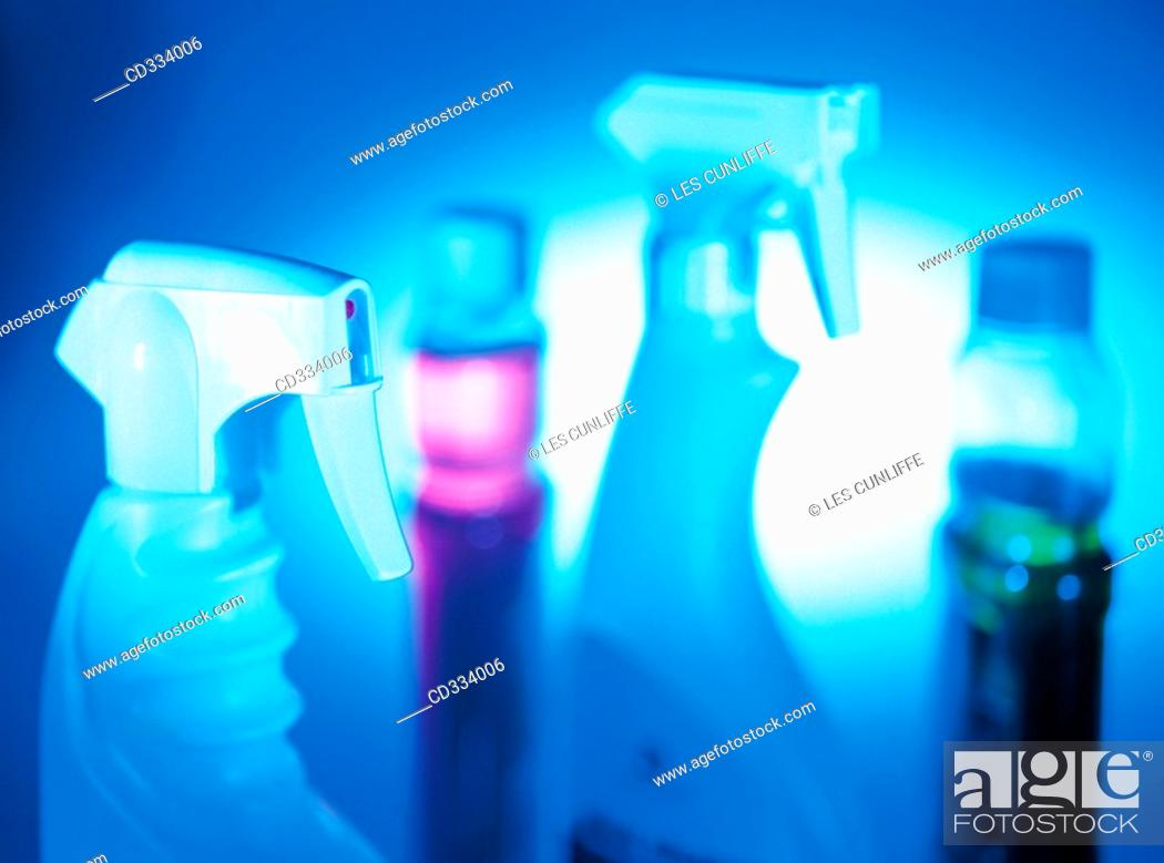 Stock Photo: Cleaning products.