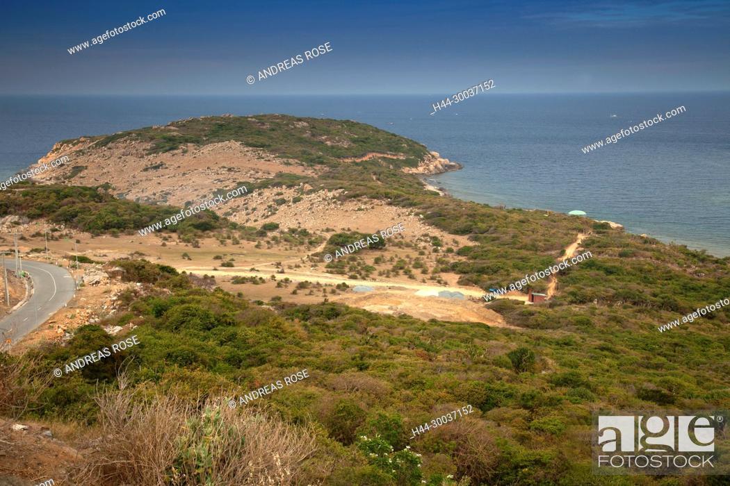 Stock Photo: Küstenlandschaft bei Vinh Hy, Vietnam, Asien.