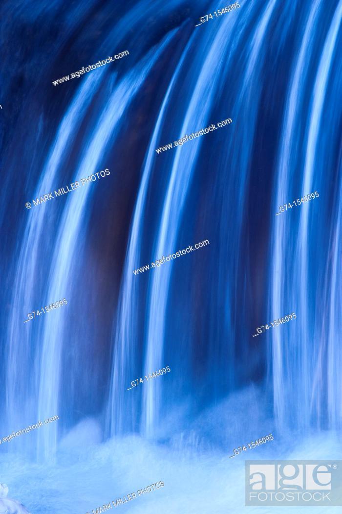 Stock Photo: Waterfall detail.