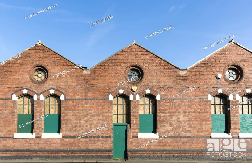 Stock Photo: Old carpet making factory and warehouses, Kidderminster, Worcestershire, England, Europe.