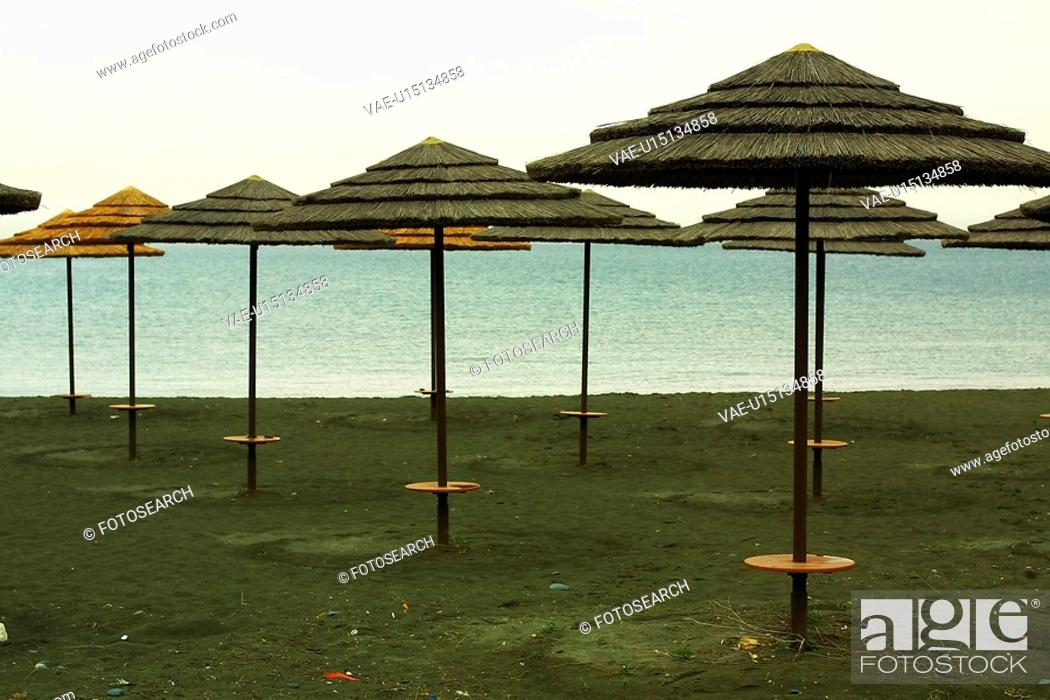 Stock Photo: Umbrellas, Canopies, Shade, Shelter, Comfort, Poles.