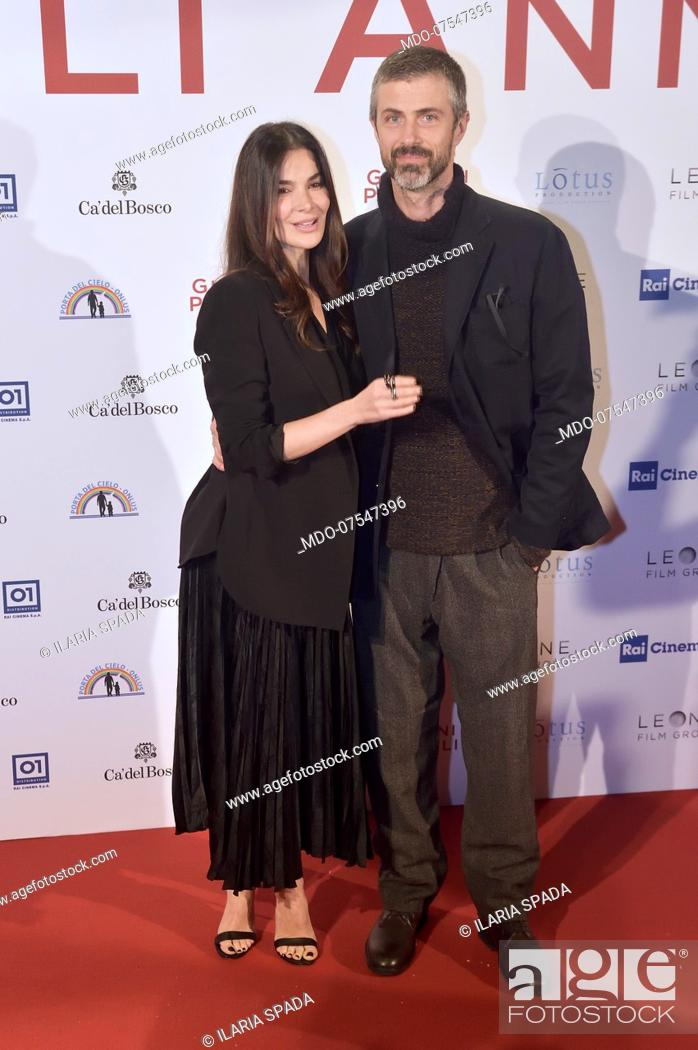 Stock Photo: The Italian actress Ilaria Spada and the Italian actor Kim Rossi Stuart pose for the photocall at the presentation of the film Gli anni più belli.
