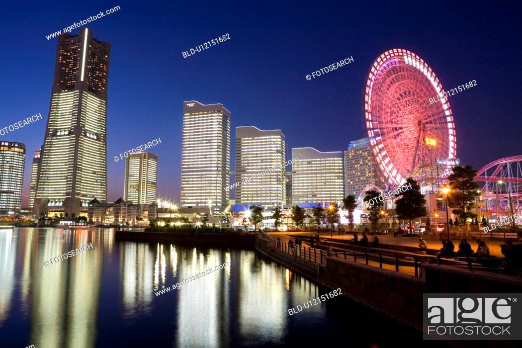 Stock Photo: Minatomirai buildings.