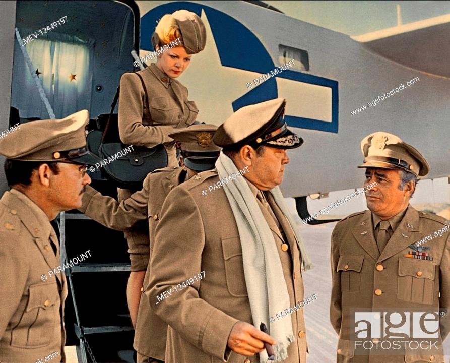Stock Photo: Orson Welles & Martin Balsam, Susanne Benton Characters: Brig. Gen. Dreedle & Col. Cathcart, Dreedle's WAC Film: Catch-22 (1970) Director: Mike Nichols 24 June.