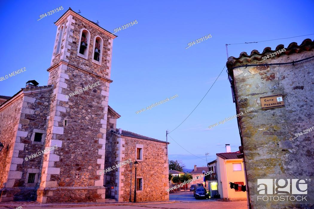 Stock Photo: Church of Santo Tomas of Gascones, Madrid, Spain.