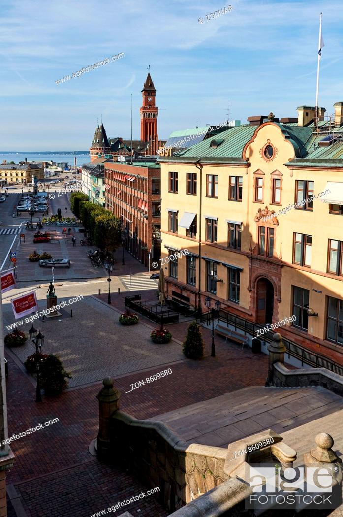 Stortorget Helsingborgs Radhus And Hamntorget Helsingborg