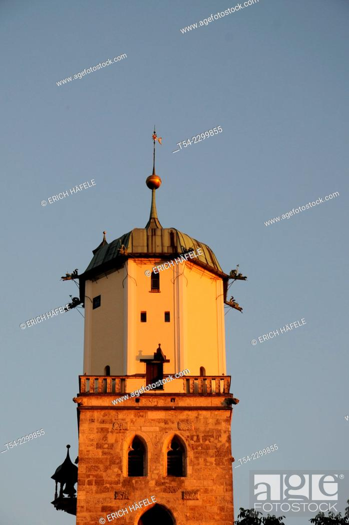 Stock Photo: The Church of Saint Martin in Memmingen, Bavaria, Germany.