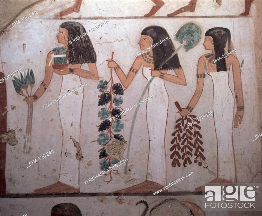 Stock Photo: Tomb of Djeserkharaseneb, Thebes, UNESCO World Heritage Site, Egypt, North Africa, Africa.