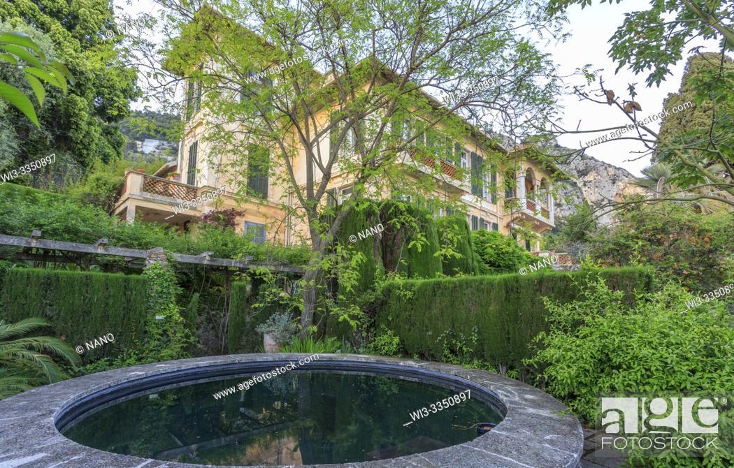 Stock Photo: France, Alpes Maritimes, Menton, Jardin Clos du Peyronnet, William Waterfieldâ. . s garden, Waterfield family property since 1915.