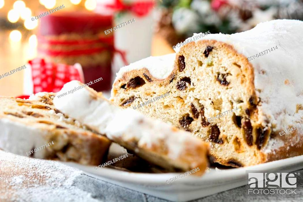 Christmas Stollen Traditional German Christmas Dessert On Wooden Background Stock Photo Picture And Low Budget Royalty Free Image Pic Esy 043771414 Agefotostock