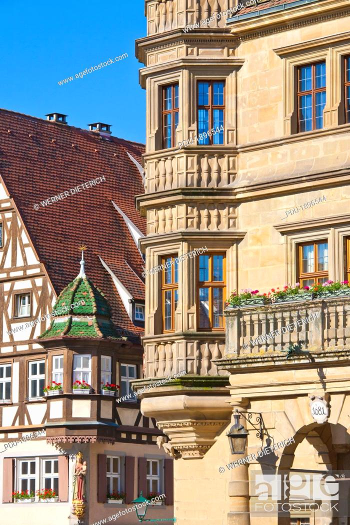 Stock Photo: Franconia, Town Hall, Guildhall, Sight, Market Place, Old Town.