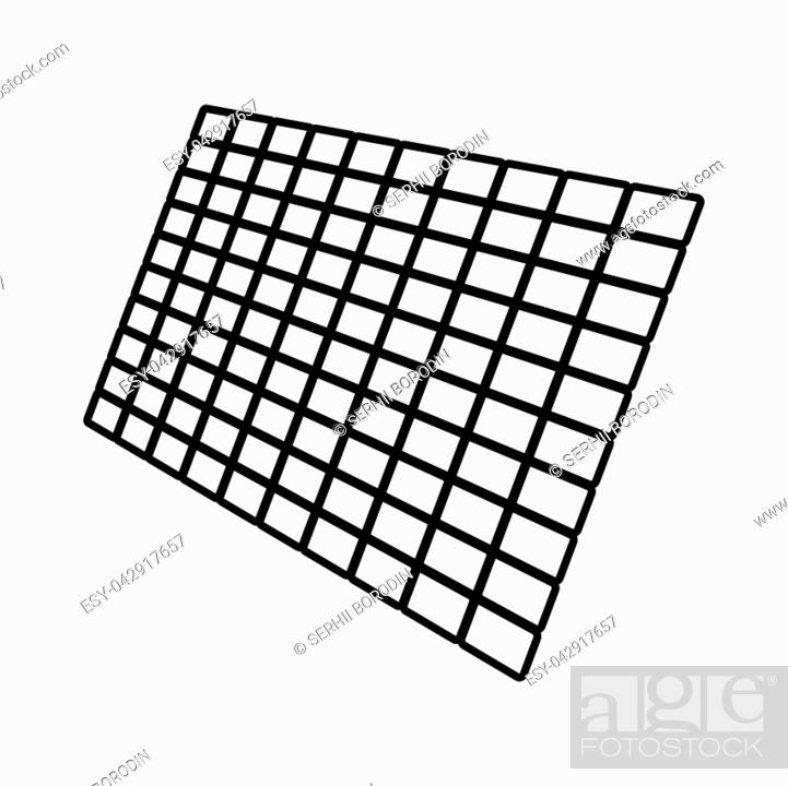 Vector: Solar panel it is black color icon .
