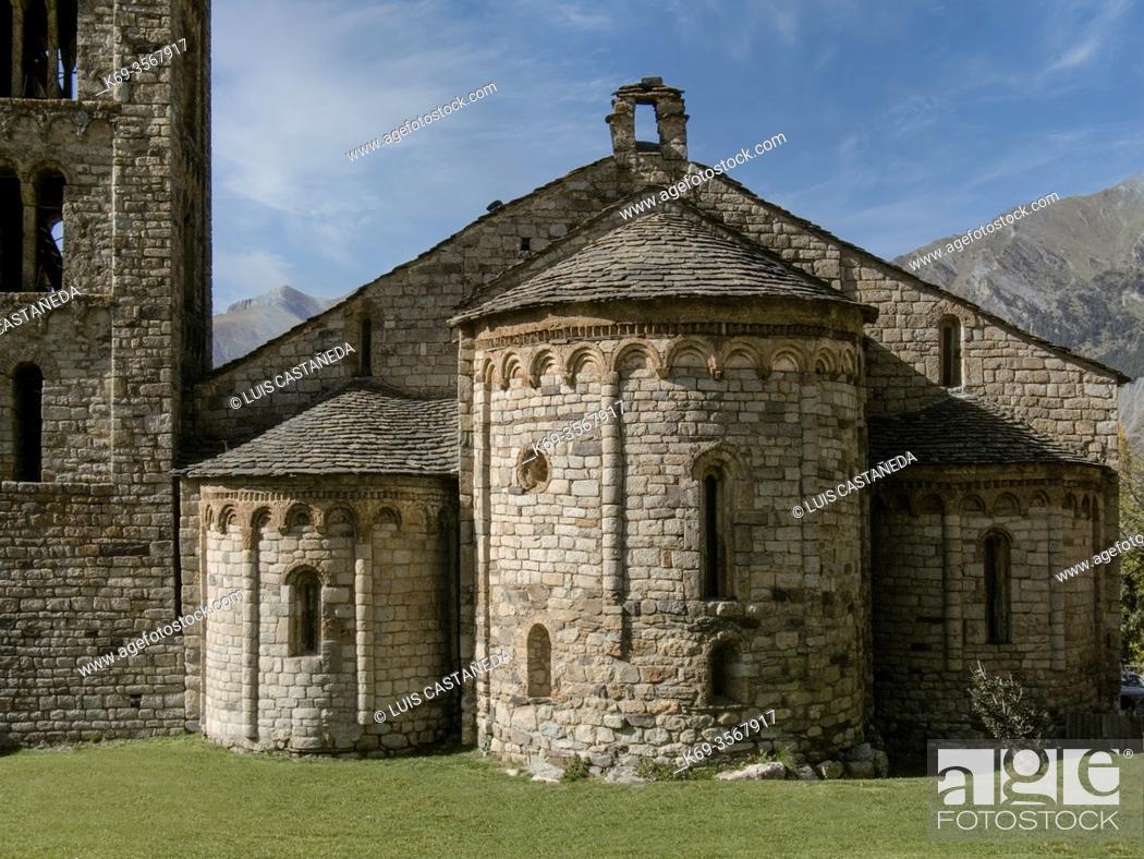 Stock Photo: S. Clemente Church. . Tahüll (Bohi Valley) (Lleida) Spain.