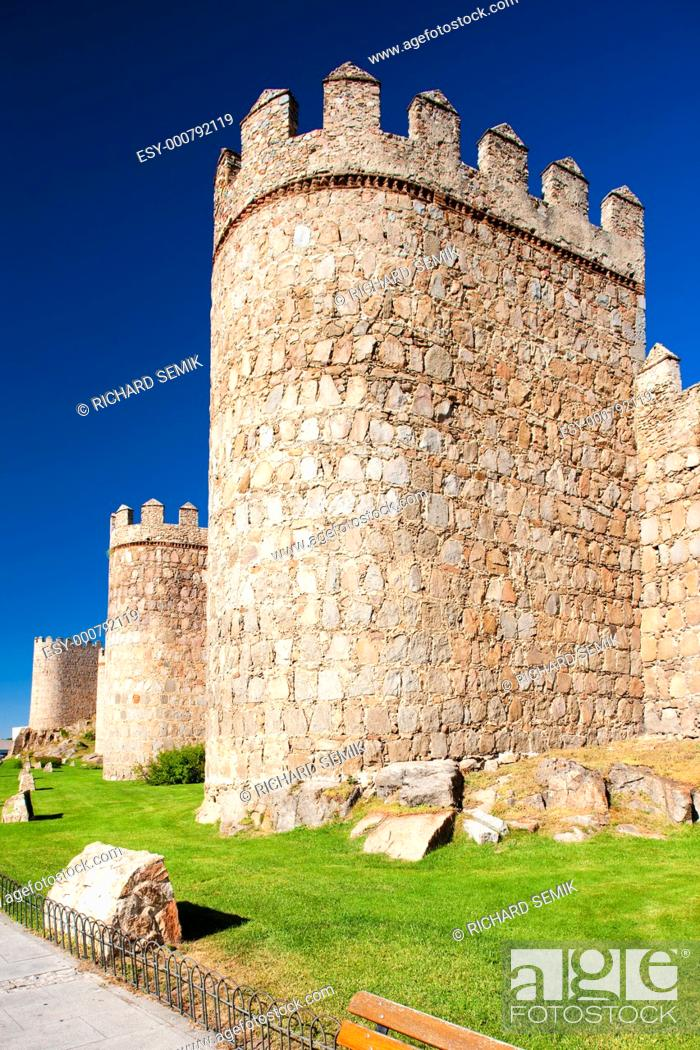 Stock Photo: fortification of Avila, Castile and Leon, Spain.