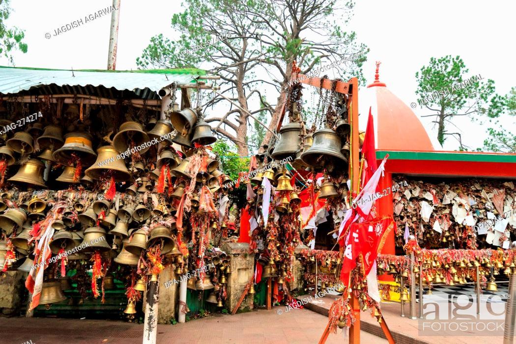 Stock Photo: Chitai Golu Devta Bell Temple, Almora, Uttarakhand, India.