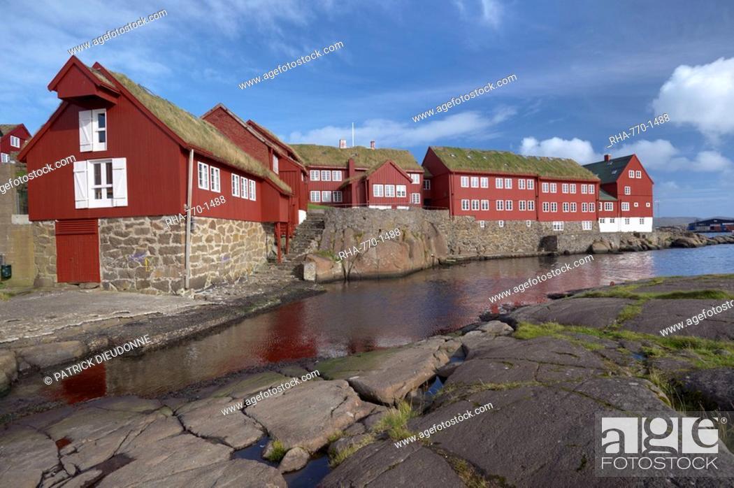 Stock Photo: Government buildings, Tinganes, Torshavn, Streymoy Island, Faroe Islands Faroes, Denmark, Europe.