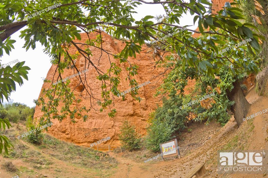 Photo de stock: Las Médulas Historic Roman Gold-Mine, UNESCO Worl Heritage Site, Cultural Landscape, El Bierzo Region, León Province, Castilla y León, Spain, Europe.