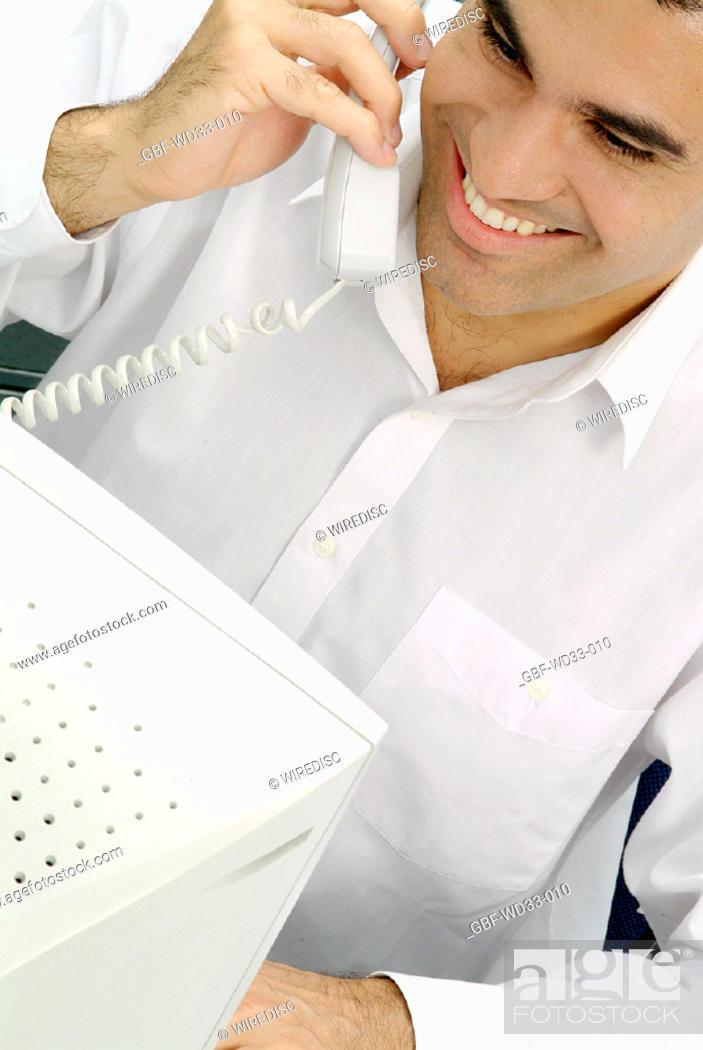 Stock Photo: People, man, Communication, Brazil.