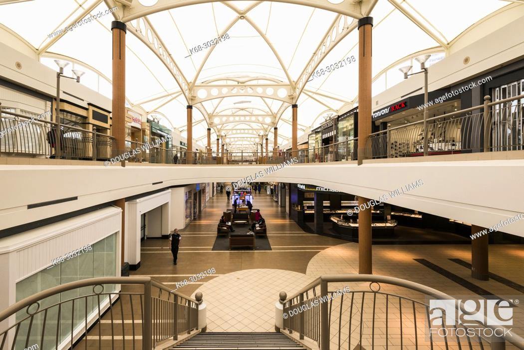 Stock Photo: Brentwood shopping mall in Burnaby, BC, Canada.