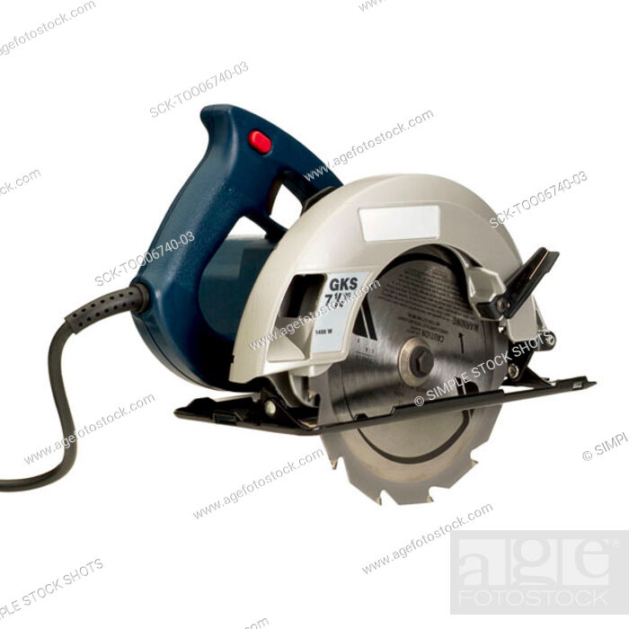 Stock Photo: electric saw.