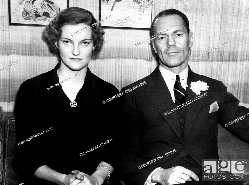 Doris Duke and husband James H R  Cromwell, February, 1935, Stock