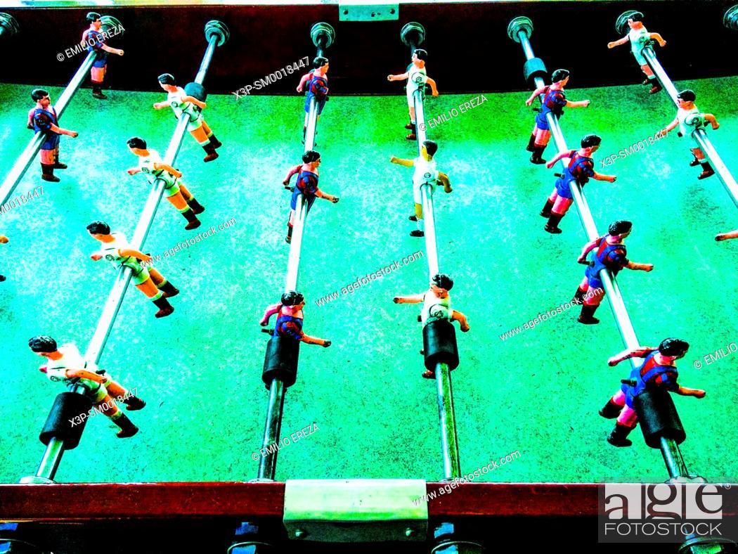 Stock Photo: Table football game.