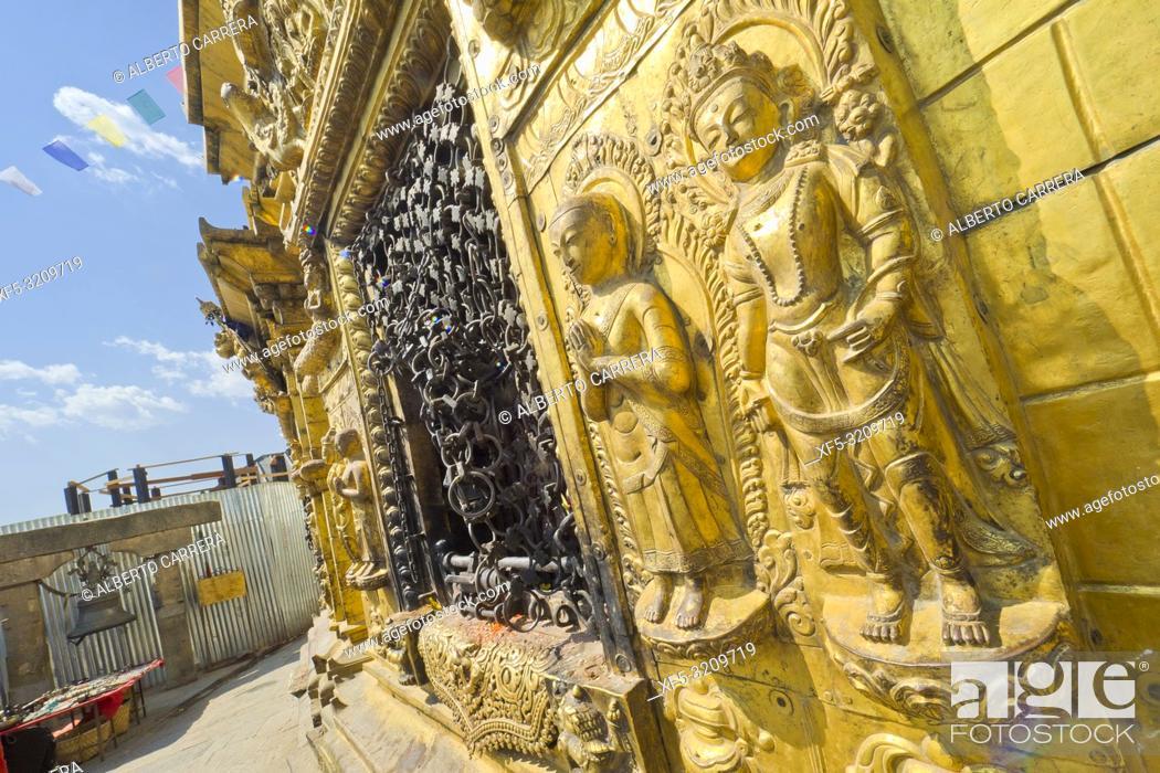 Imagen: Swayambhunath Temple, Monkey Temple, UNESCO World Heritage Siite, Kathmandu, Nepal, Asia.