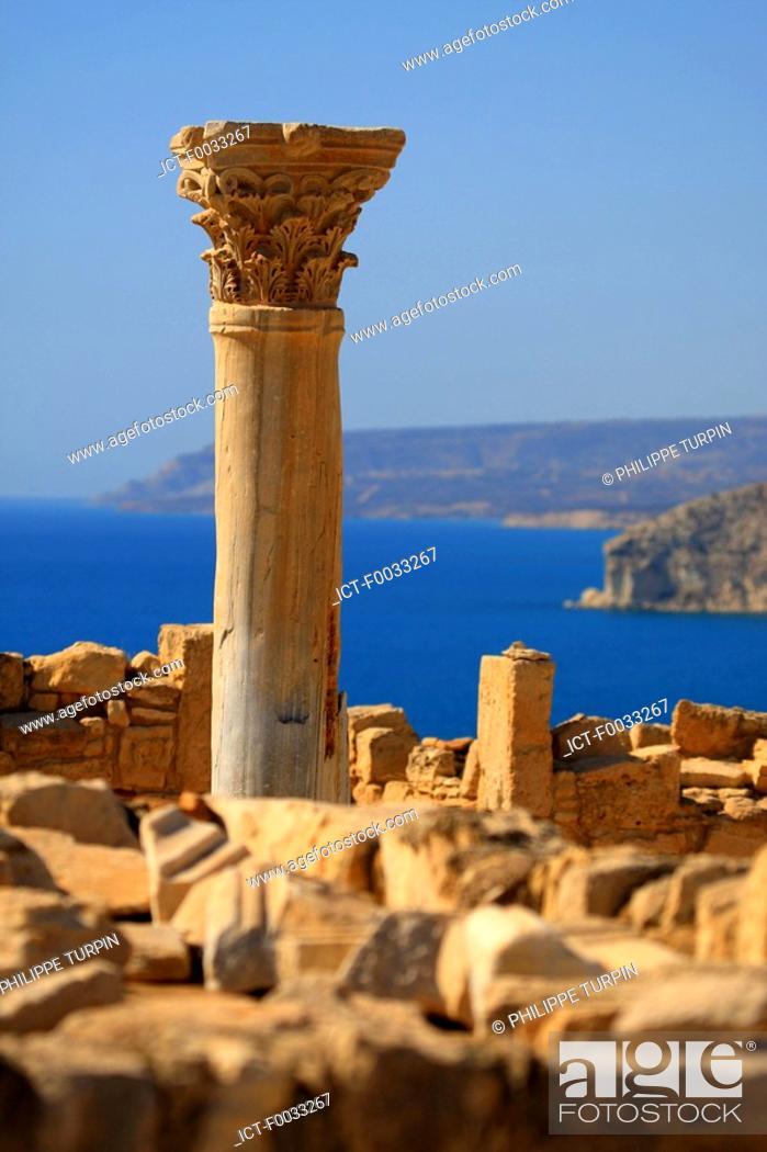 Stock Photo: Cyprus, Kourion archaelogical site.