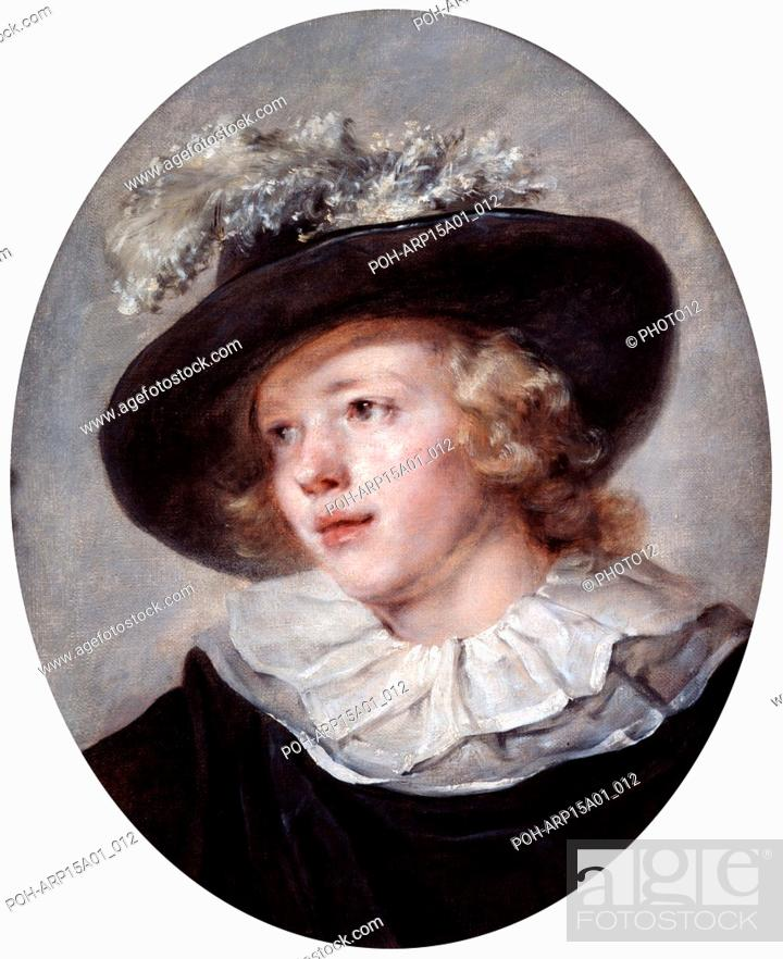 Stock Photo: Portrait of a Young Man': Jean-Honore Fragonard (1732-1806) French painter. Oil on canvas.