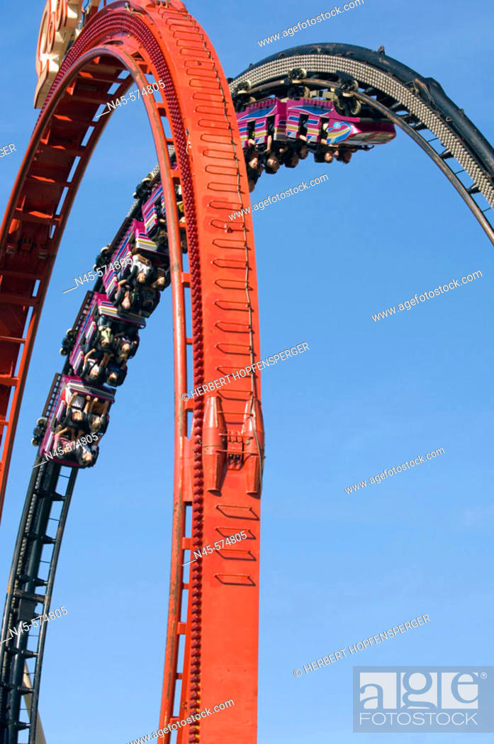 Stock Photo: Reverlers on a ride at the Fairground.