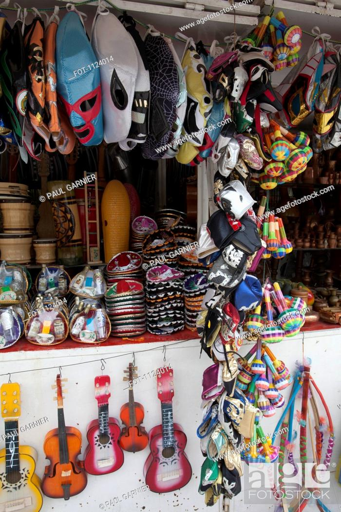 Stock Photo: A souvenir stall, Merced Market, Mexico City, Mexico.