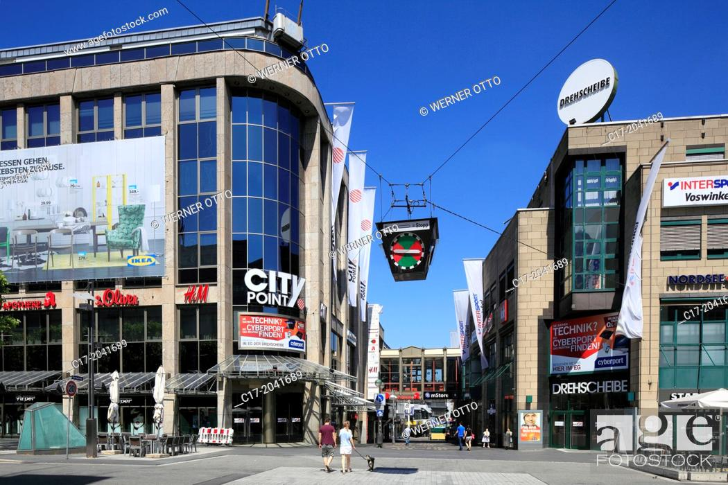 Stock Photo: Germany, Bochum, Ruhr area, Westphalia, North Rhine-Westphalia, NRW, City Point Drehscheibe, business premises, shopping centre, shopping arcade, traffic light.