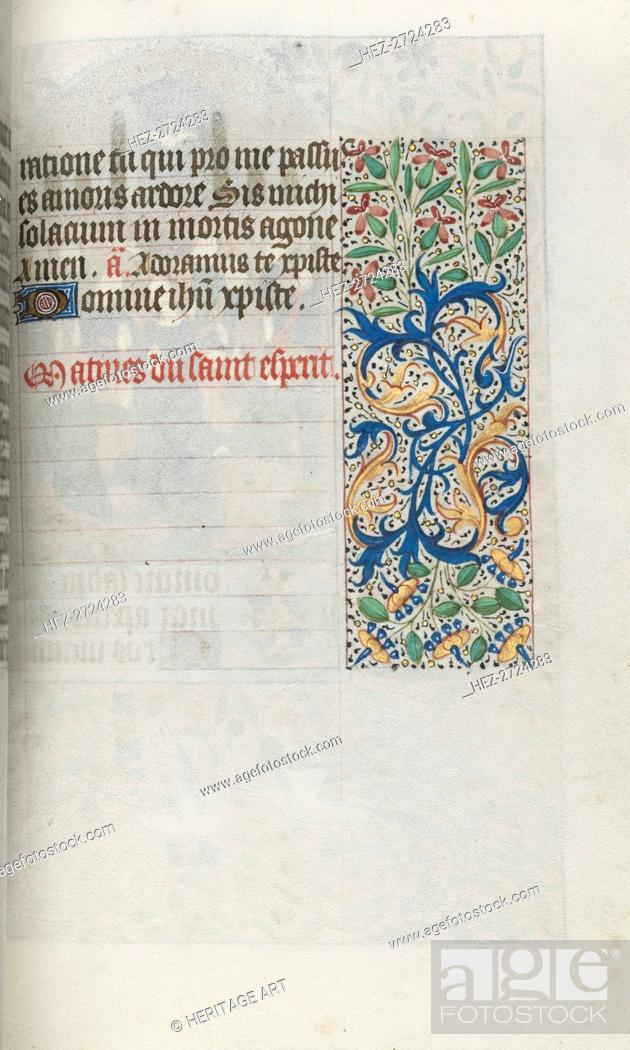 Stock Photo: Book of Hours (Use of Rouen): fol. 99r, c. 1470. Creator: Master of the Geneva Latini (French, active Rouen, 1460-80).