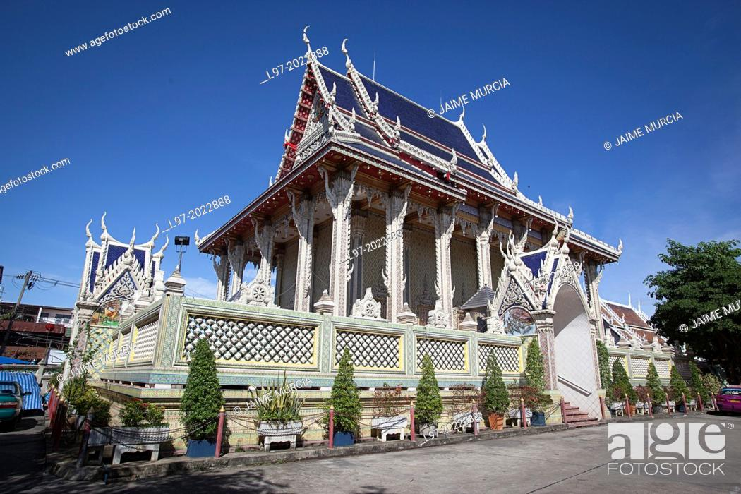 Stock Photo: Bhuddist temple over 250 years old from the Ayutthaya period, in the Wat Sai area of Bangkok Bangkok Thailand.