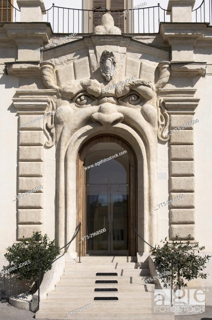 Stock Photo: The Monster door on Zuccari Palace, Rome, Italy, Europe.