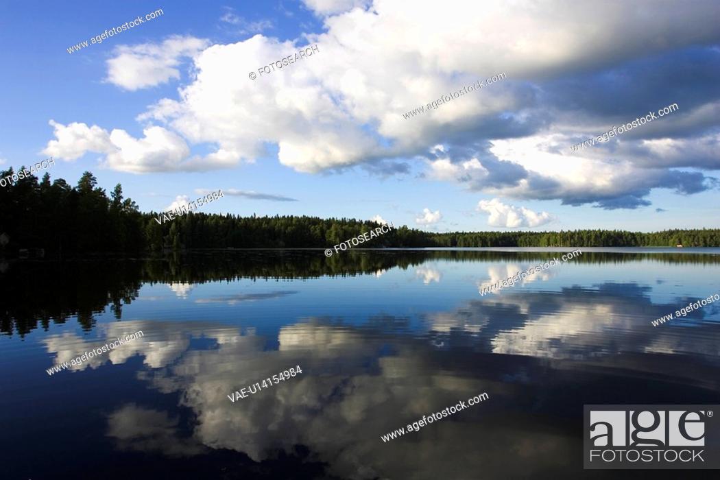 Stock Photo: Blue, Cloud, Cloudscape, Dusk.