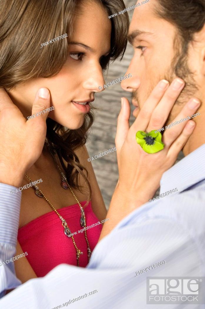 Stock Photo: Couple romancing.