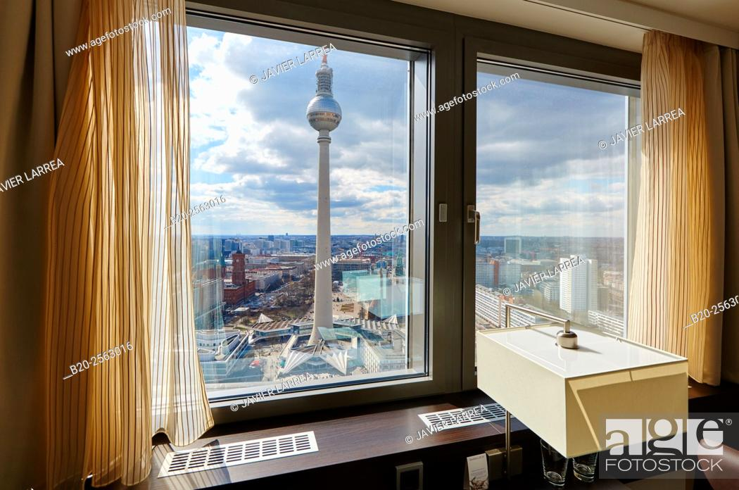 Stock Photo: Television tower, Alexanderplatz, Berlin, Germany.