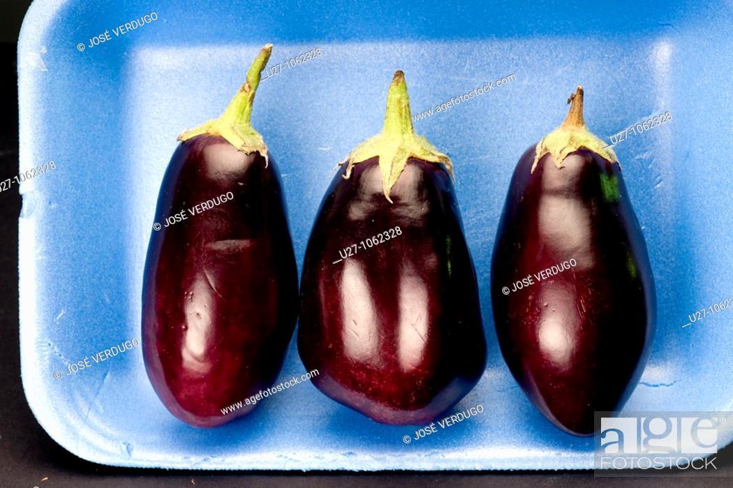 Stock Photo: Aubergines.