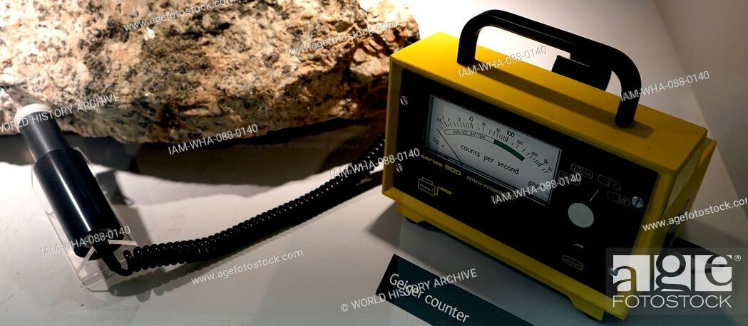 Stock Photo: Example of a Geiger counter is an instrument used for measuring ionizing radiation. Dated 21st Century.