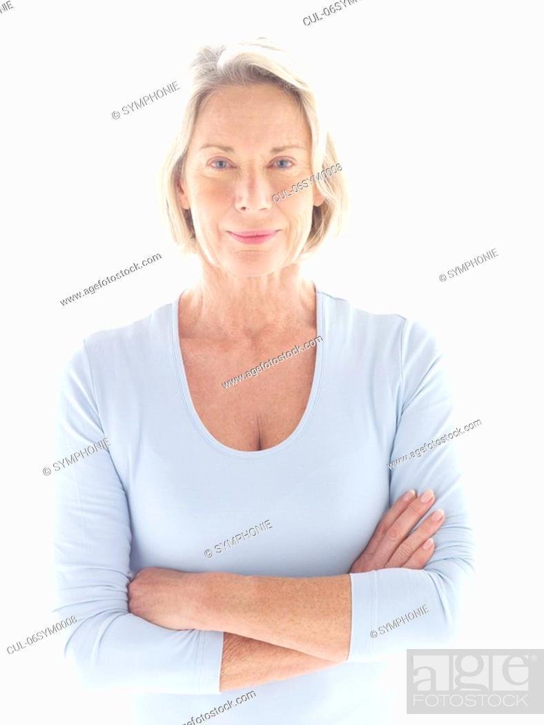 Stock Photo: Portrait of mature woman.
