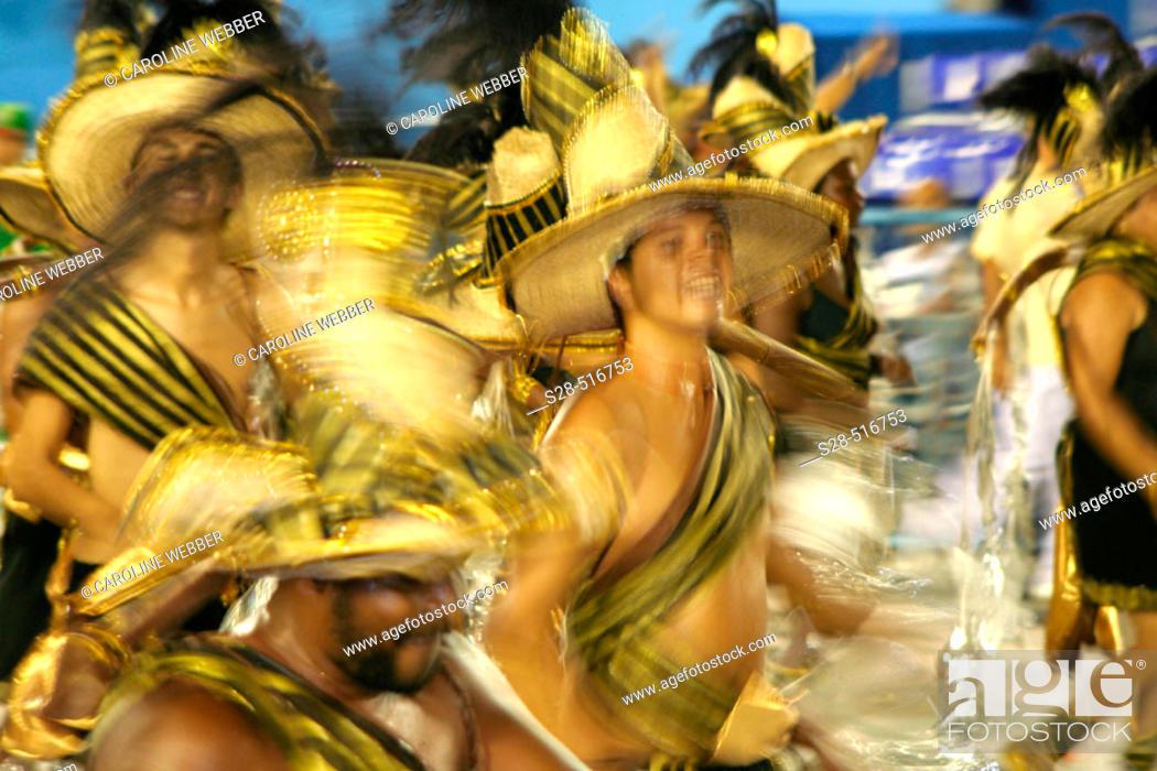 Stock Photo: Man dancing at Carnival, Rio de Janeiro.