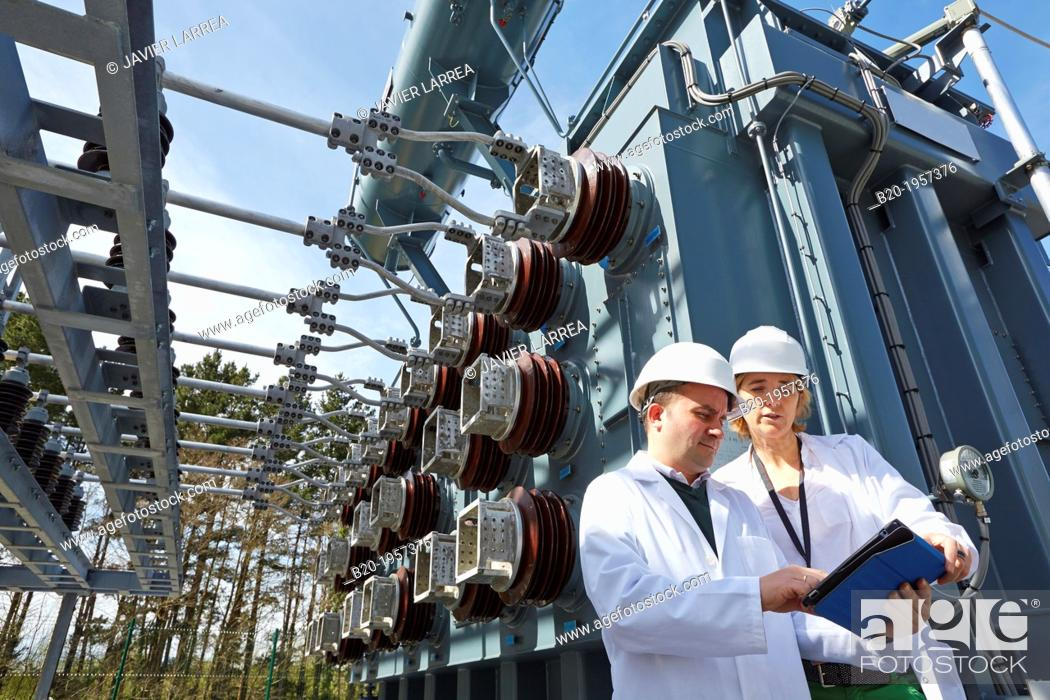 Stock Photo: Electrical Substation. Ingrid. Testing and Certificates Services for Smart grids. Certification of electrical equipment. Technological Services to Industry.